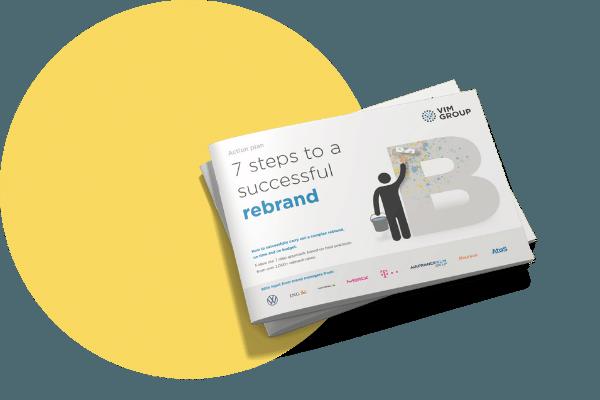 Mockup rebranding expert guide with yellow circle